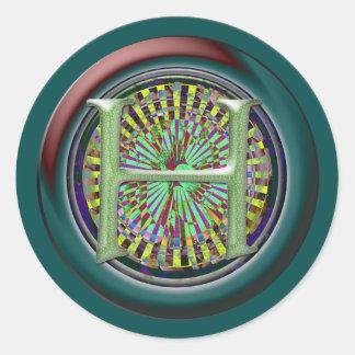Monogrammed Round Stickers