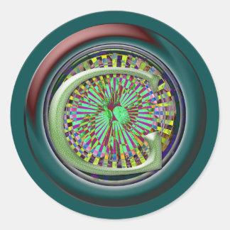 Monogrammed Round Sticker