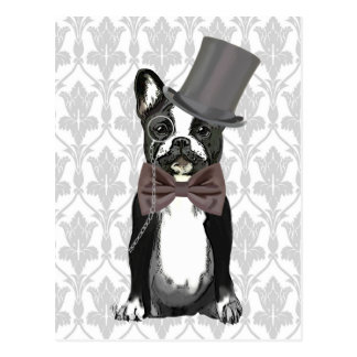 Monsieur Bulldog Postcard