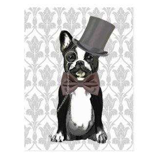 Monsieur Bulldog Postcard