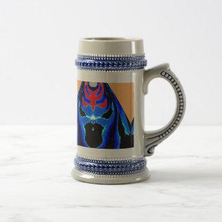 MONSTER Blue Ink Tin Sheet Cutout Cartoon Coffee Mug