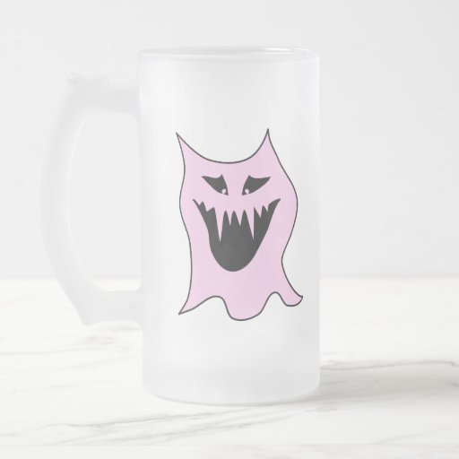 Monster Cartoon, Black and Pink. Mug
