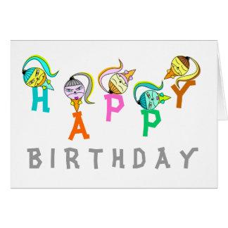 Monster Icecream Cone Birthday Card