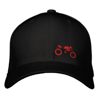 Monster moto hat embroidered cap