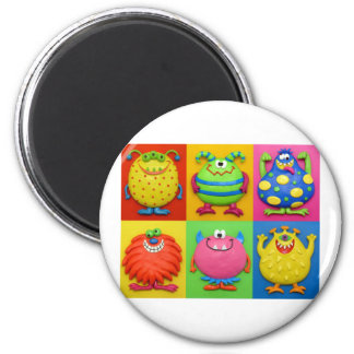 Monster Party 6 Cm Round Magnet