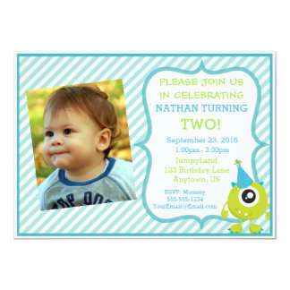 Monster Party Photo Invitation