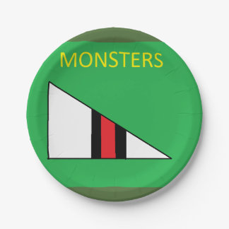 Monster Plates 7 Inch Paper Plate