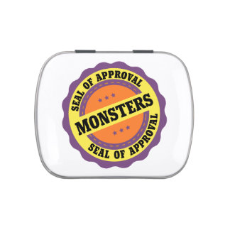 Monster Seal of Approval Jelly Belly Candy Tins