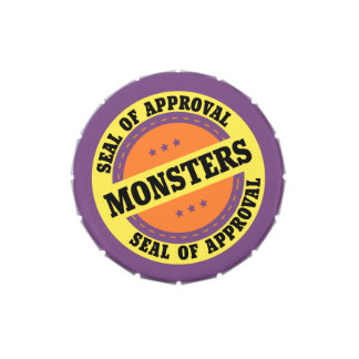 Monster Seal of Approval Jelly Belly Candy Tin