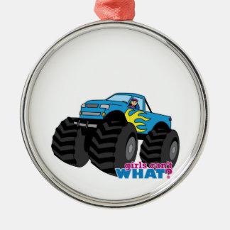 Monster Truck - Blue Christmas Ornament