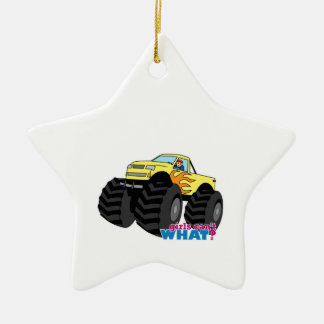 Monster Truck - Yellow Christmas Ornament