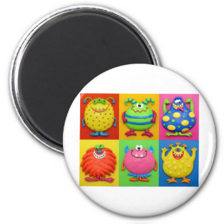 Monsters 6 Cm Round Magnet