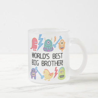 Monsters World's Best Big Brother Frosted Glass Coffee Mug