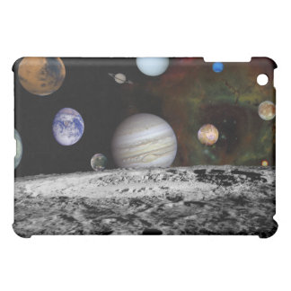 Montage of the planets and Jupiter's moons iPad Mini Cover