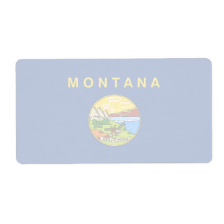 Montana Faint Flag Shipping Label