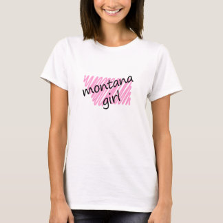 Montana Girl with Scribbled Montana Map T-Shirt