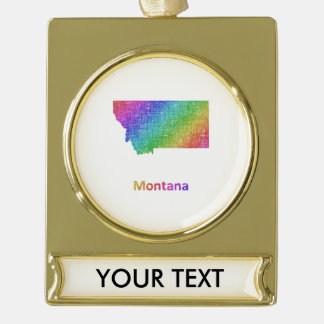 Montana Gold Plated Banner Ornament