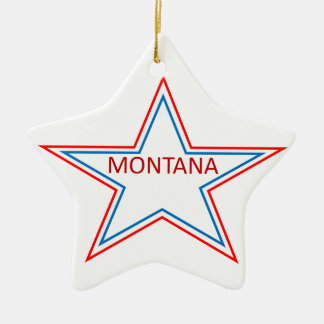 Montana in a star. christmas ornament