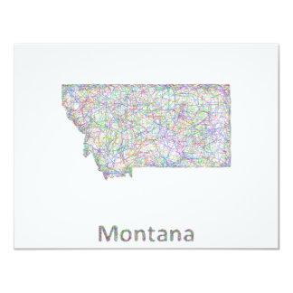 Montana map card