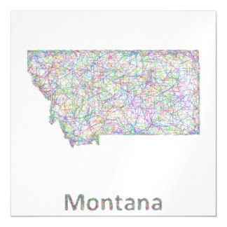 Montana map magnetic card