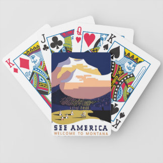 Montana MT US USA Vintage Travel Playing Cards