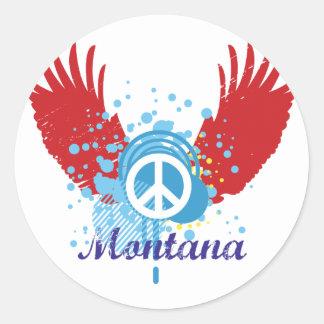 Montana Peace Sign Round Sticker