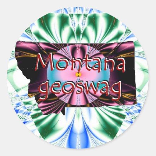 Montana State Geocaching Supplies Stickers Geoswag
