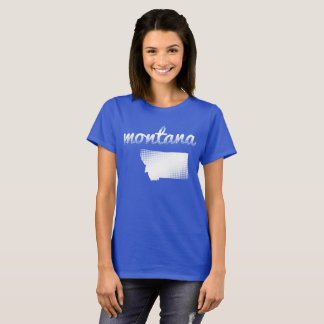 Montana state in white T-Shirt