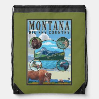 Montana State Scenes Drawstring Bag