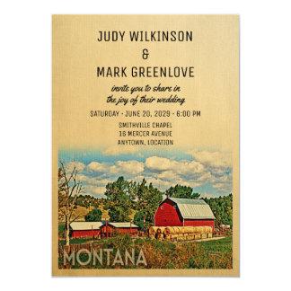 Montana Wedding Invitation Farm Barn Rustic