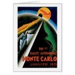 Monte Carlo Auto Rally ~ Vintage Automobile Ad Greeting Card