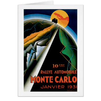 Monte Carlo Auto Rally ~ Vintage Automobile Ad Greeting Card