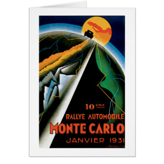 Monte Carlo Auto Rally ~ Vintage Automobile Ad Note Card