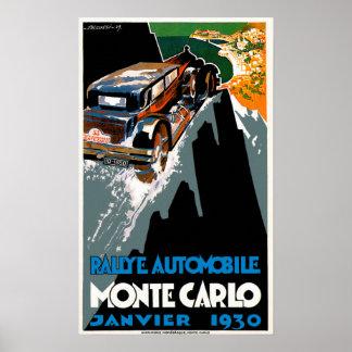 Monte Carlo Auto Rally ~ Vintage Automobile Ad Print