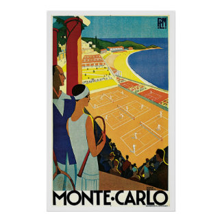 Monte Carlo Monaco Vintage Poster