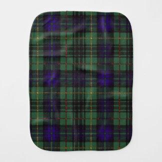 Monteith clan Plaid Scottish kilt tartan Burp Cloth