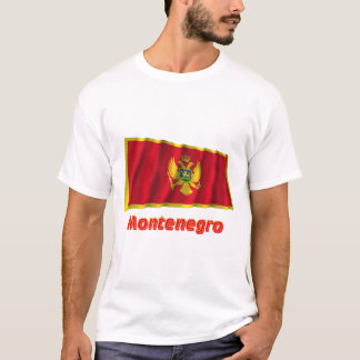 Montenegro Waving Flag with Name T-Shirt