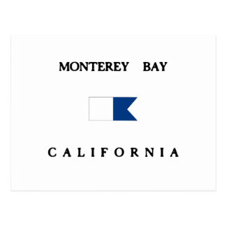 Monterey Bay California Alpha Dive Flag Postcard