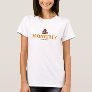 Monterey, California, Ladies Baby Doll (Fitted) T-Shirt