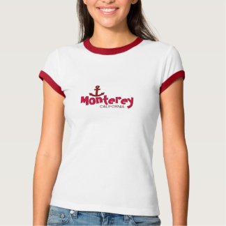 Monterey, California - with Red Anchor Icon T-Shirt