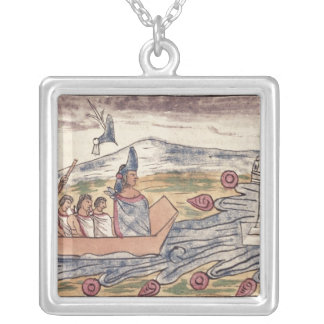 Montezuma II  leaving rapidly after hearing Silver Plated Necklace