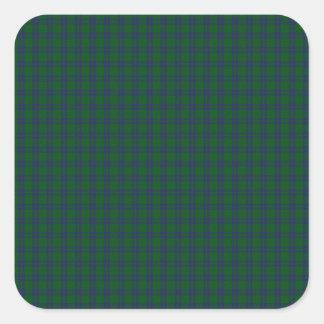 Montgomery Clan Tartan Square Sticker