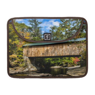 Montgomery Covered Bridge with fall foliage Sleeve For MacBooks