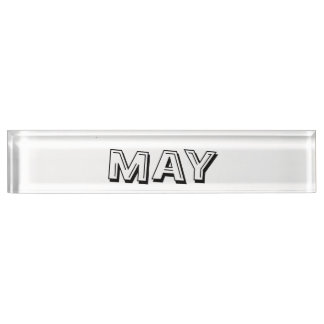 Month of May Desk Nameplate by Janz