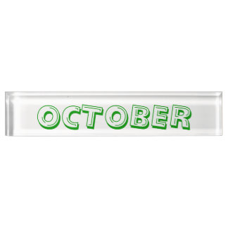 Month of October Desk Nameplate by Janz