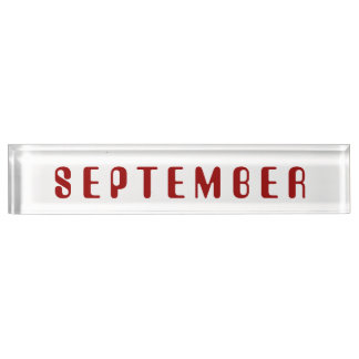 Month of September Desk Nameplate by Janz