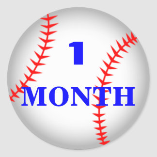 Monthly Baby Sticker Baseball Personalized