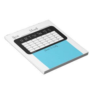 Monthly Planner Sky Blue Calendar by Janz Notepad