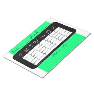Monthly Planner Spring Green Calendar by Janz Notepads