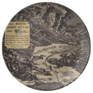 Monticello Steamship Company Map Plate